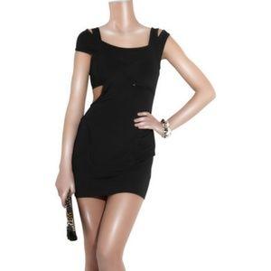 Alexander Wang Cutout Ponte Black Mini Dress, Sz 6